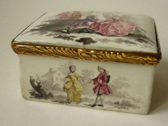 アンティーク 嗅ぎたばこ入れ 金彩 ハンドペイント シガーボックス 煙草入れ 希少 美術館級 18世紀