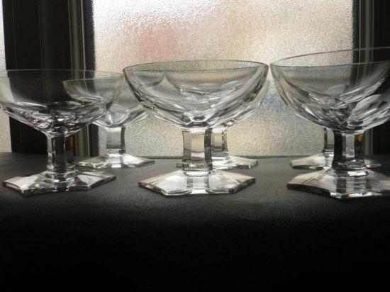 ヴァルサンランベール グラス シャンパンクープ アールデコ アンティーク ベルギー VSL 6客セット