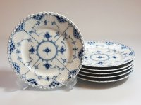 ロイヤルコペンハーゲン プレート■ブルーフルーテッド フルレース サラダプレート 皿 6枚 1級 2