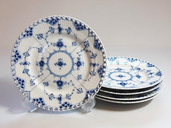 ロイヤルコペンハーゲン プレート■ブルーフルーテッド フルレース サラダプレート 5枚 皿