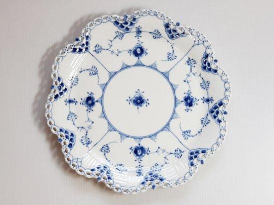 ロイヤルコペンハーゲン■ブルーフルーテッド フルレース オーバルプレート 花形 大皿 1級