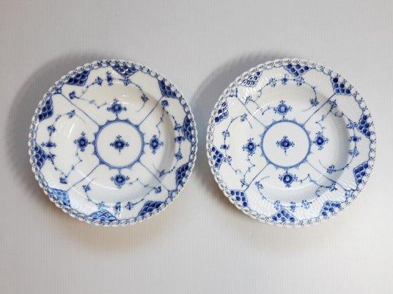 ロイヤルコペンハーゲン プレート■ブルーフルーテッド フルレース スーププレート 皿 2枚 1
