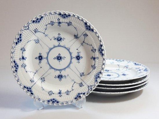 ロイヤルコペンハーゲン プレート■ブルーフルーテッド フルレース ディナープレート 大皿 5枚 1級 1
