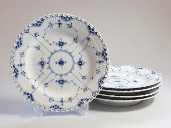 ロイヤルコペンハーゲン プレート■ブルーフルーテッド フルレース ディナープレート 大皿 5枚 1級 2