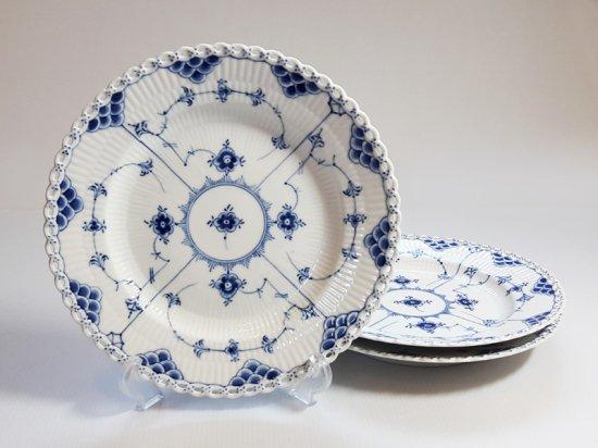 ロイヤルコペンハーゲン プレート■ブルーフルーテッド フルレース ディナープレート 大皿 3枚 1