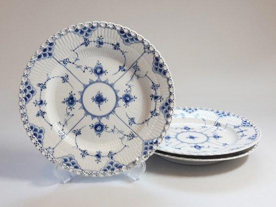 ロイヤルコペンハーゲン プレート■ブルーフルーテッド フルレース ディナープレート 大皿 3枚 2