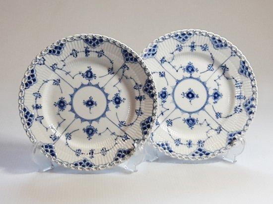 ロイヤルコペンハーゲン プレート■ブルーフルーテッド フルレース サラダプレート 皿 2枚