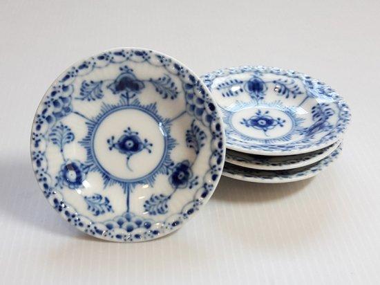 ロイヤルコペンハーゲン プレート■ブルーフルーテッド ハーフレース バタープレート 小皿 4枚 1級
