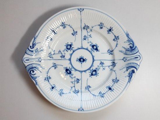 ロイヤルコペンハーゲン プレート■ブルーフルーテッド プレインレース オーバルプレート 大皿 1級 美品