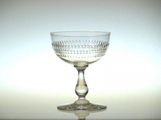 オールド バカラ グラス ● タイユビゾー シャンパン クープ グラス アンティーク Taille biseaux