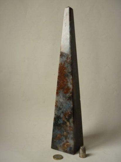 オベリスク 大理石 マーブル ジャスパー 記念碑 モニュメント 37.5cm