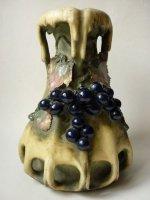 アンフォラ オーストリア 花瓶 ヴェース ブドウ 葡萄 アンポラ アールヌーヴォー EDDA 1895年