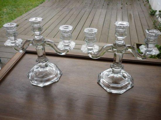バカラ 燭台 照明 枝付き燭台 大型 ヴィンテージ candelabras キャンドル立て ロウソク立て クリスタル