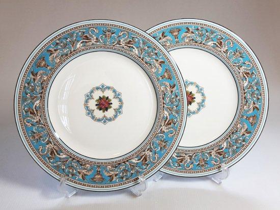 ウェッジウッド プレート■フロレンティーン ターコイズ ディナープレート 皿 2枚 1級品 美品
