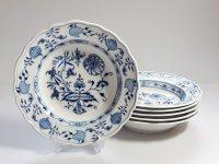 マイセン プレート■ブルーオニオン スーププレート 6枚セット 皿 Meissen