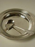 クリストフル スターリング シルバー ベビー スプーン プレート セット 銀 フレンチシルバー ホールマーク