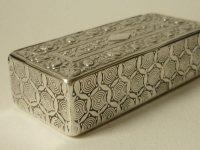 嗅ぎ煙草入れ アンティーク フレンチ シルバー 銀 スナッフボックス 内部金彩 18世紀