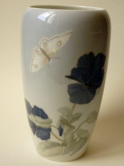 ロイヤルコペンハーゲン アールヌーヴォー 花瓶 陶磁器 アールヌーボー 花 蝶 アンティーク 1900年