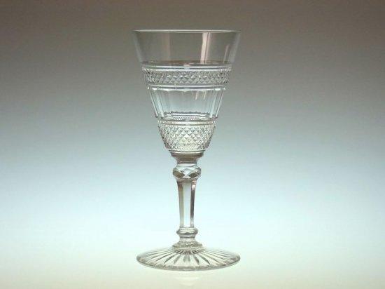 オールド バカラ グラス ● ワイン グラス カタログ掲載品 ダイヤモンド カット アンティーク 12cm