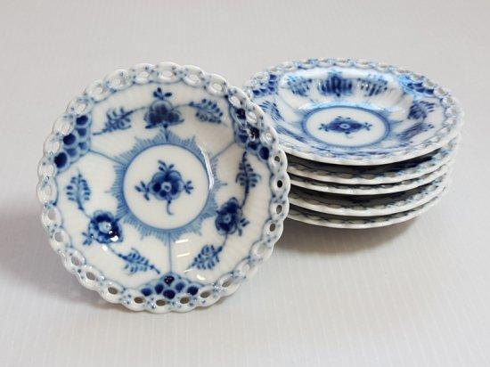ロイヤルコペンハーゲン■ブルーフルーテッド フルレース バタープレート 小皿 6枚セット 1級品 2