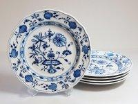 マイセン■ブルーオニオン ディナープレート 大皿 5枚セット Meissen 1