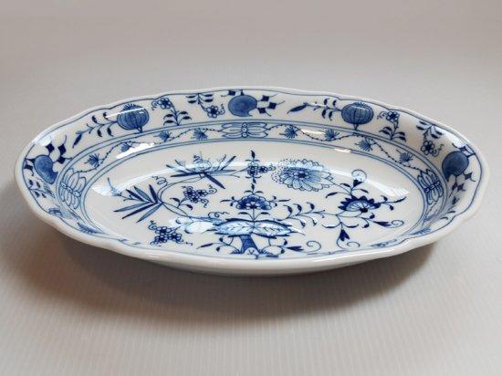 マイセン プレート■ブルーオニオン カレー皿 深皿 1枚 Meissen 楕円