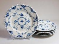 ロイヤルコペンハーゲン プレート■ブルーフルーテッド フルレース ディナープレート 5枚 大皿 1級