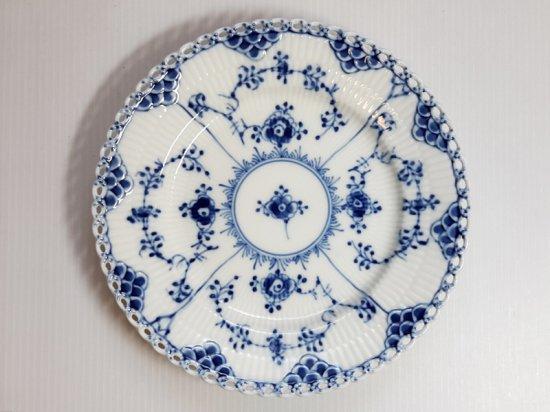 ロイヤルコペンハーゲン プレート■ブルーフルーテッド フルレース サラダプレート 1枚 皿 1級