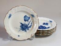 ロイヤルコペンハーゲン プレート■ブルーフラワー カーブ 金彩 サラダプレート 皿 5枚 1級品