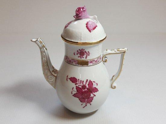 ヘレンド■アポニー ピンク コーヒーポット 1個 インドの華 HEREND 1級品