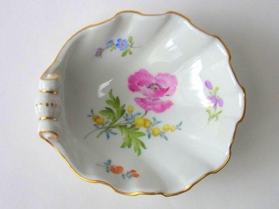 マイセン■ベーシックフラワー ブーケ 二つ花 シェル型 小皿 バタープレート 1枚 Meissen