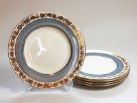 ウェッジウッド プレート■ホワイトホール パウダーブルー ランチプレート 皿 5枚セット 1級品