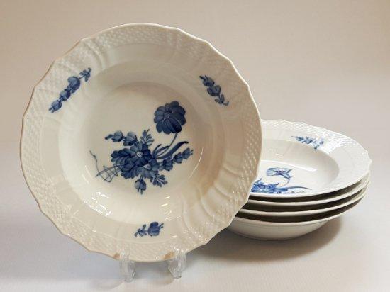 ロイヤルコペンハーゲン プレート■ブルーフラワー カーブ スーププレート 5枚セット 1級品