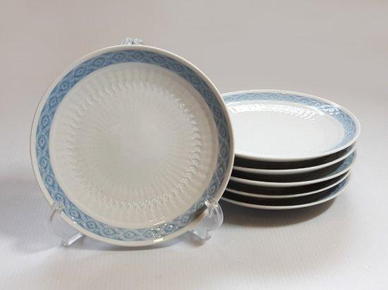 ロイヤルコペンハーゲン プレート■ブルーファン フルーツプレート 皿 6枚 希少 レア Blue Fan 1級品