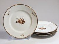 ロイヤルコペンハーゲン プレート■ブラウンローズ ディナープレート 大皿 4枚 薔薇 1級品 2
