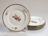 ロイヤルコペンハーゲン プレート■ブラウンローズ サラダプレート 皿 4枚 薔薇 1級品 2