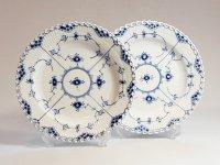 ロイヤルコペンハーゲン プレート■ブルーフルーテッド フルレース ディナープレート 2枚セット 1級品 美品