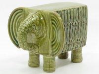 リサ・ラーソン ヴィンテージ フィギュリン■Lisa Larson Afrika Elefant ゾウ 象 置物 スウェーデン グスタフスベリ Gustavsberg