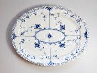ロイヤルコペンハーゲン プレート■ブルーフルーテッド フルレース オーバルプレート 楕円 大皿 1級品