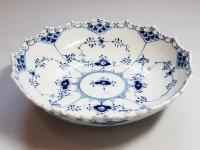 ロイヤルコペンハーゲン ボウル■ブルーフルーテッド フルレース サラダボウル 深皿 1級品 美品 1