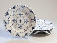 ロイヤルコペンハーゲン プレート■ブルーフルーテッド フルレース ディナープレート 皿 5枚セット 1級品 1