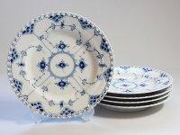 ロイヤルコペンハーゲン プレート■ブルーフルーテッド フルレース ディナープレート 皿 5枚セット 1級品 2