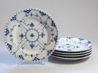 ロイヤルコペンハーゲン プレート■ブルーフルーテッド フルレース ディナープレート 皿 5枚セット 1級品 3
