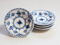 ロイヤルコペンハーゲン プレート■ブルーフルーテッド ハーフレース バタープレート 小皿 4枚セット 1級品 美品 1