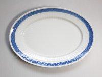 ロイヤルコペンハーゲン プレート■ブルーファン オーバルプレート 1枚 大皿 楕円 レア Blue Fan 2