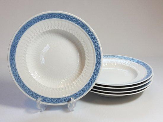 ロイヤルコペンハーゲン プレート■ブルーファン スーププレート 5枚セット 皿 レア 小 Blue Fan 1級品