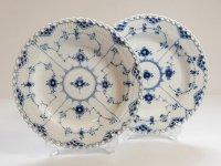 ロイヤルコペンハーゲン プレート■ブルーフルーテッド フルレース ディナープレート 大皿 2枚セット 1級品 2