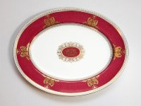 ウェッジウッド プレート■コロンビア パウダールビー オーバルプレート 大皿 楕円 1枚 WEDGWOOD 1級品