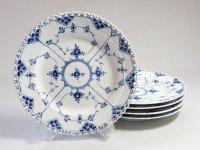 ロイヤルコペンハーゲン プレート■ブルーフルーテッド フルレース ディナープレート 大皿 5枚セット