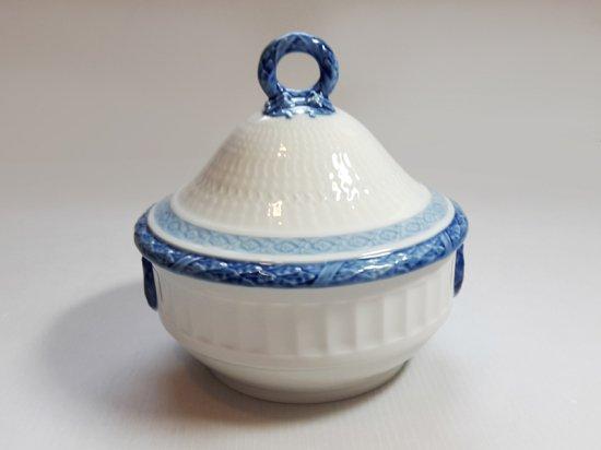 ロイヤルコペンハーゲン シュガーポット■ブルーファン シュガーカップ 小物入れ 1個 大 レア Blue Fan 1級品 …